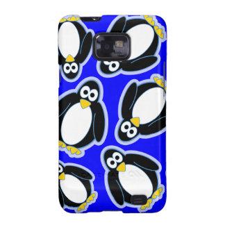 Diseño del invierno del pingüino samsung galaxy SII funda