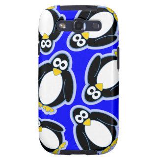 Diseño del invierno del pingüino galaxy SIII protector