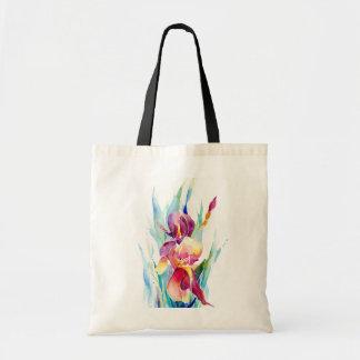 Diseño del iris de la acuarela bolsa tela barata