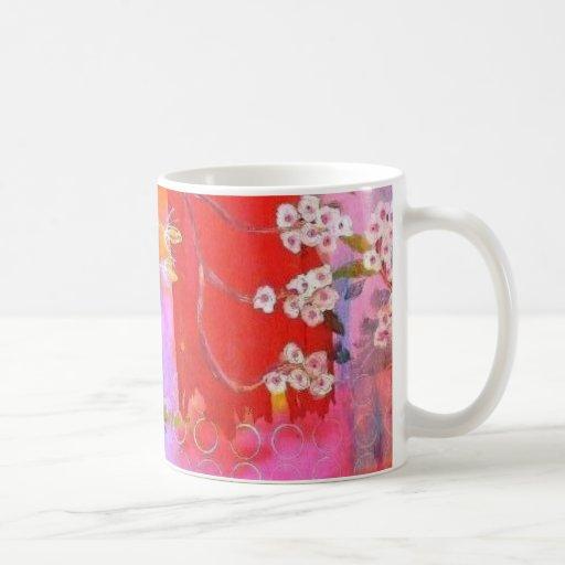 Diseño del jardín de la primavera de la taza de ca