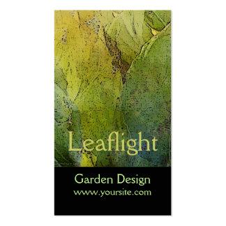Diseño del jardín de Leaflight Tarjetas De Visita