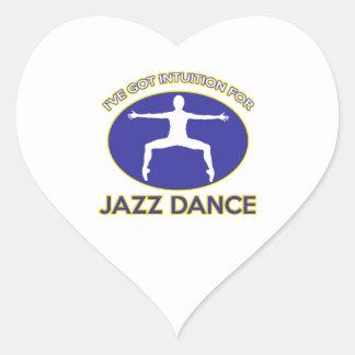 diseño del jazz pegatina en forma de corazón