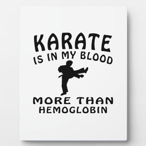 Diseño del karate placas con fotos