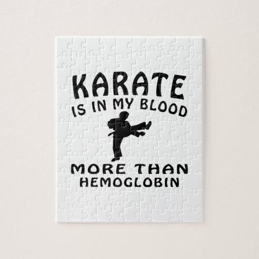 Diseño del karate rompecabeza