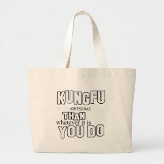 diseño del kungfu bolsa lienzo