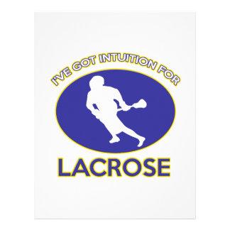 diseño del lacrosse plantillas de membrete