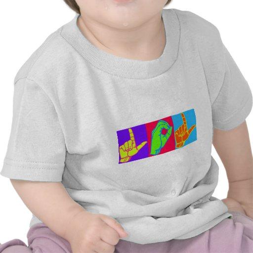 Diseño del lenguaje de signos de LOL ASL Camisetas