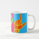 Diseño del lenguaje de signos de LOL Warhol ASL Taza De Café