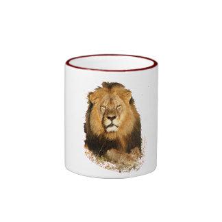 diseño del león en memoria de Cecil la taza del