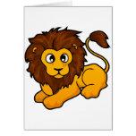 Diseño del león felicitacion