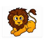 Diseño del león postales