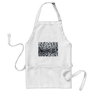 diseño del leopardo delantal