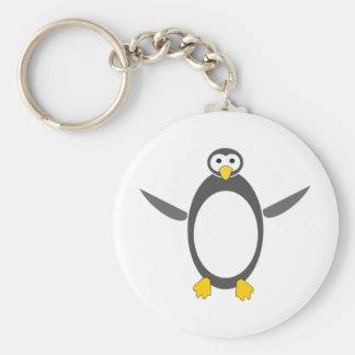 diseño del linux del pingüino llavero redondo tipo pin
