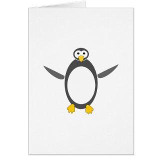 diseño del linux del pingüino tarjeta de felicitación