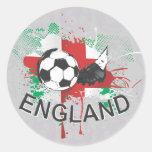 Diseño del listón del fútbol y del fútbol de pegatina redonda