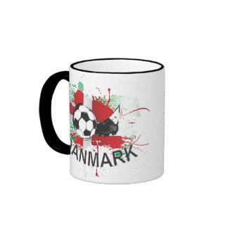 Diseño del listón del fútbol y del fútbol de taza de café