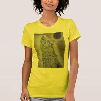 Diseño del lobo del grito camisetas