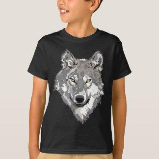 Diseño del lobo gris playera