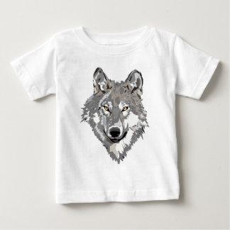 Diseño del lobo gris playera de bebé