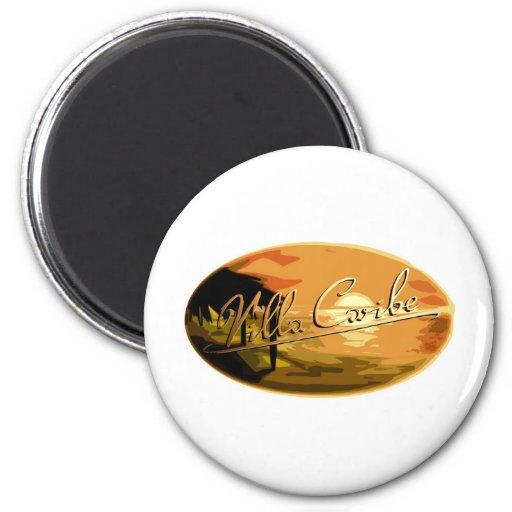 Diseño del logotipo; Chalet Caribe Imán De Frigorífico
