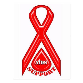 Diseño del logotipo de la ayuda de AIDS/HIV Tarjetas Postales