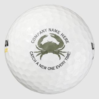 Diseño del logotipo del cangrejo • Personalizado Pack De Pelotas De Golf