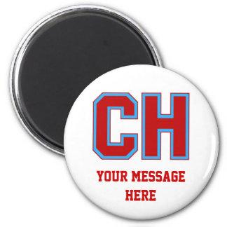 Diseño del logotipo del CH de las alturas de Cambr Imán Redondo 5 Cm