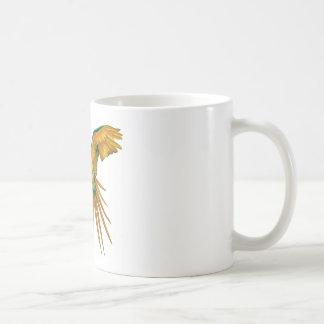 Diseño del loro taza básica blanca