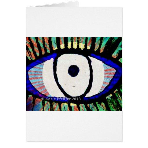 Diseño del mal de ojo de Katie Pfeiffer Tarjeta De Felicitación