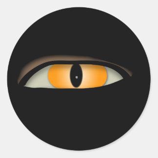 Diseño del mal de ojo pegatina redonda