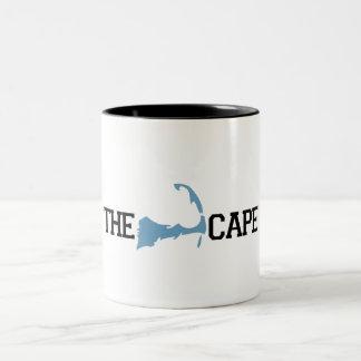 """Diseño del """"mapa"""" de Cape Cod Taza De Dos Tonos"""
