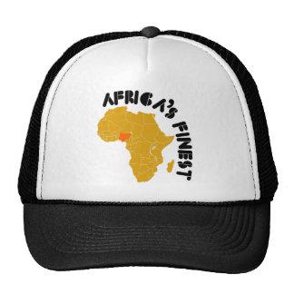 Diseño del mapa de Nigeria, África Gorra