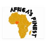 Diseño del mapa de Nigeria, África Postales