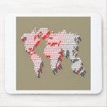Diseño del mapa del mundo de la tecnología alfombrilla de ratones