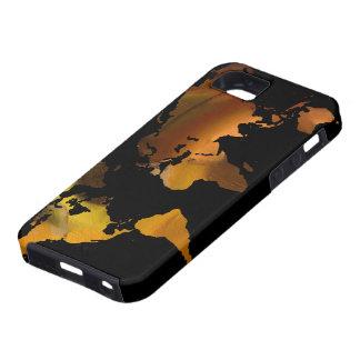 diseño del mapa del mundo iPhone 5 Case-Mate cobertura