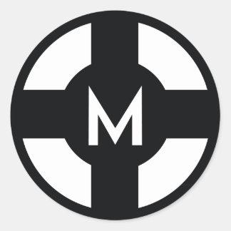 Diseño del mayordomo de Matt de la información Pegatina Redonda