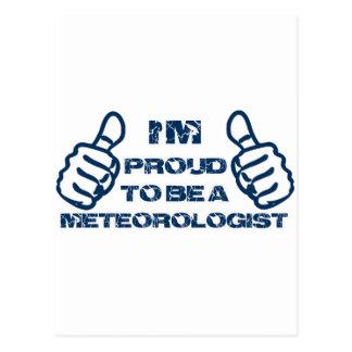 Diseño del meteorólogo postal