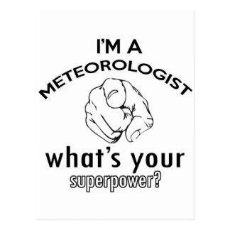 diseño del meteorólogo postales
