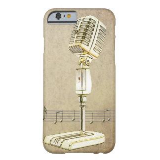 Diseño del micrófono del vintage funda barely there iPhone 6