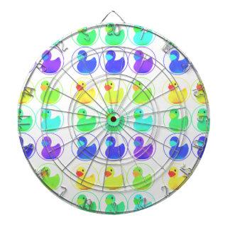 Diseño del modelo de Duckies del arco iris Tablero De Dardos