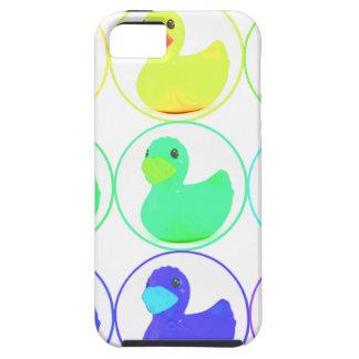 Diseño del modelo de Duckies del arco iris iPhone 5 Carcasas