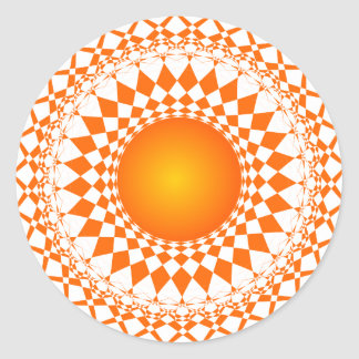 diseño del modelo de la repetición del extracto pegatina redonda