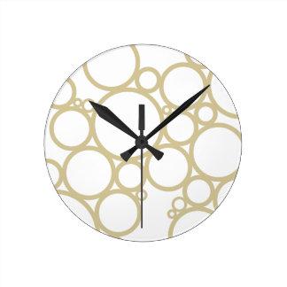 Diseño del modelo de las burbujas el   Champán Reloj Redondo Mediano
