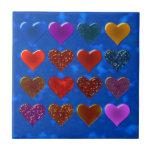 Diseño del modelo de los corazones azulejos cerámicos