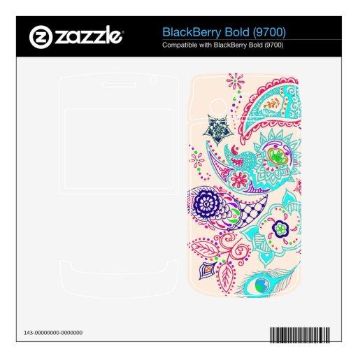 Diseño del modelo de Mehndi BlackBerry Skin