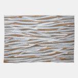 Diseño del modelo de onda del metal plateado toalla de mano