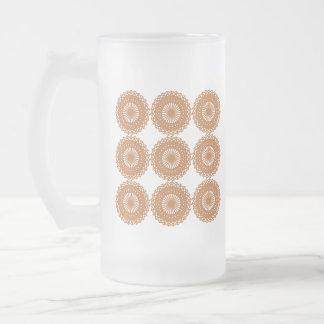 Diseño del modelo del cordón de Brown Tazas De Café