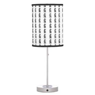 Diseño del modelo del pedazo de ajedrez de la lámpara de mesilla de noche