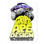 Diseño del mono de la uva postal