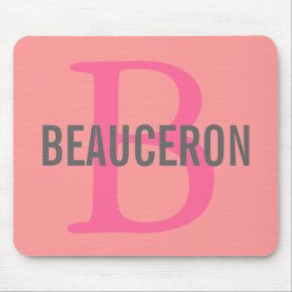 Diseño del monograma de la raza de Beauceron Tapete De Ratón